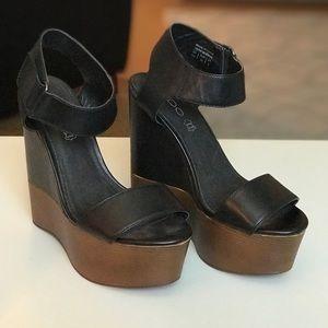 ALDO Genuine Leather Wedge Sandal